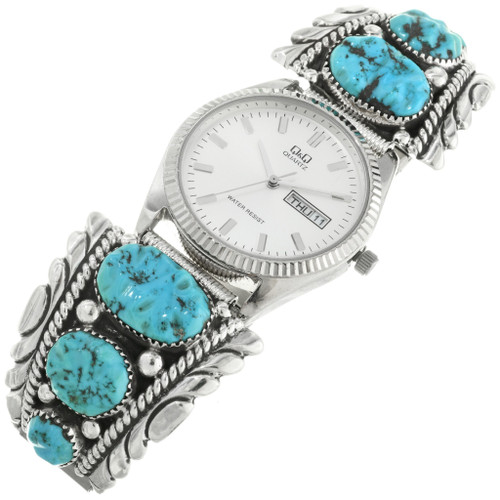 Vintage Zuni Turquoise Mens Watch 31864