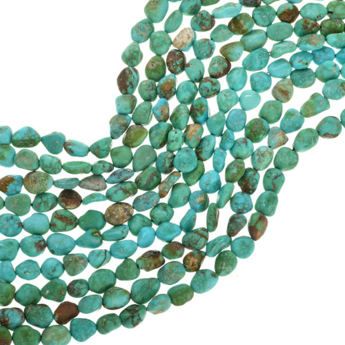 Green Turquoise Kingman Nugget Beads 31928