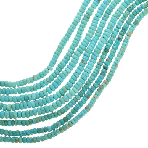 Natural Kingman Turquoise Beads 31939