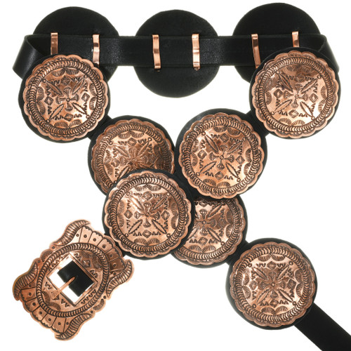 Navajo Copper Concho Belt 31880
