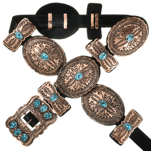 Copper Turquoise Concho Belt 31885