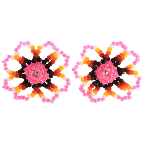 Colorful Bead Earrings Navajo Artist Ryan Johnson 32043