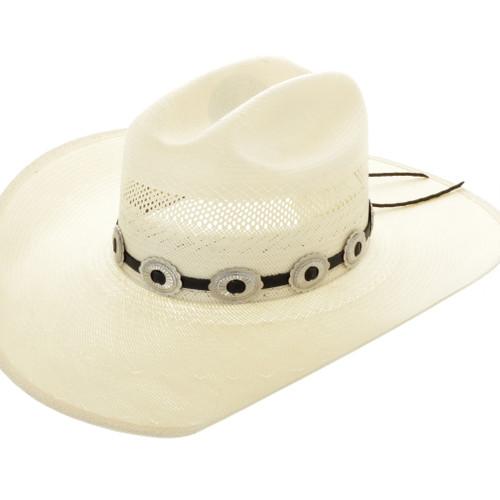 Navajo Silver Concho Hatband 32050