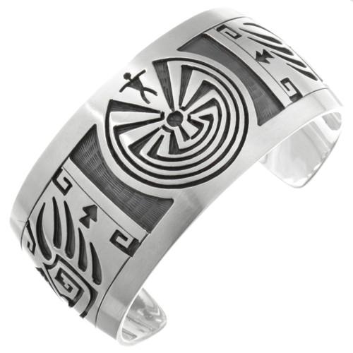 Navajo Silver Man in the Maze Bracelet 32064