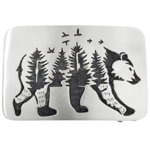 Navajo Walking Bear Belt Buckle 32074
