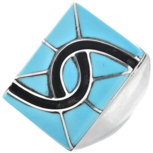 Zuni Turquoise Mens Ring 32087