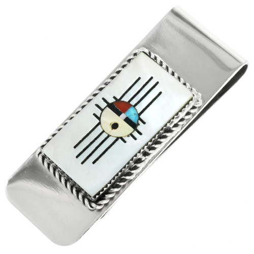 Inlaid Zia Sunface Money Clip 32104