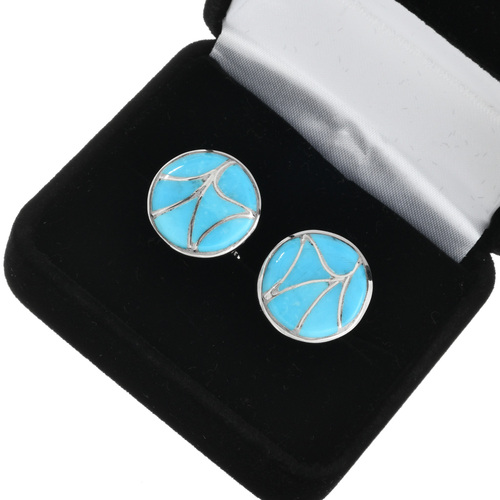 Zuni Turquoise Cuff Links 32106