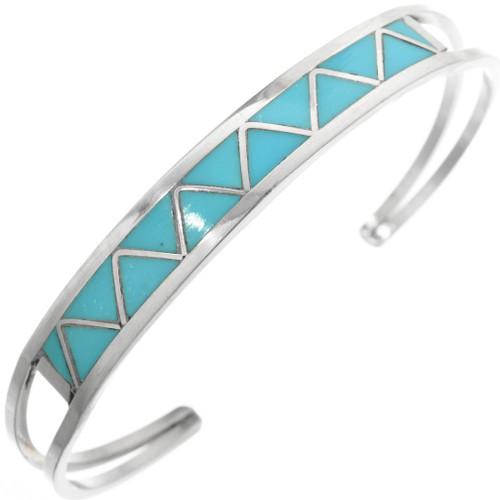 Zuni Inlay Turquoise Bracelet 32118