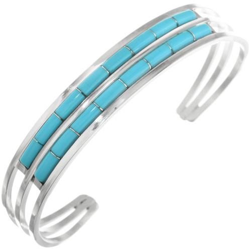 Zuni Turquoise Silver Bracelet 32122