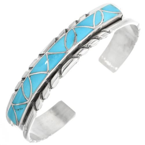 Blue Turquoise Zuni Bracelet 32128