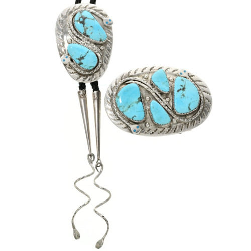 Effie Calavaza Turquoise Buckle Set 32131