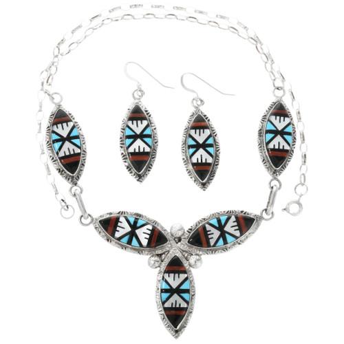 Zuni Inlay Turquoise Jewelry Set 32142