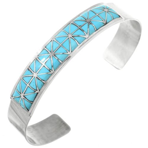 Detailed Turquoise Inlay Bracelet 32158