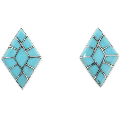 Zuni Inlaid Turquoise Post Earrings 32166