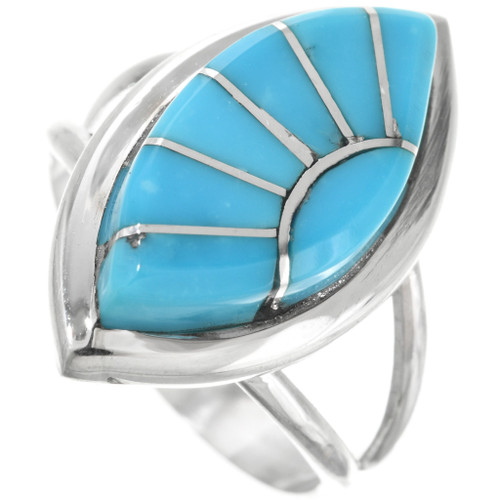 Turquoise Inlay Sun Ring 32167