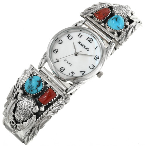 Navajo Turquoise Buffalo Watch 32170
