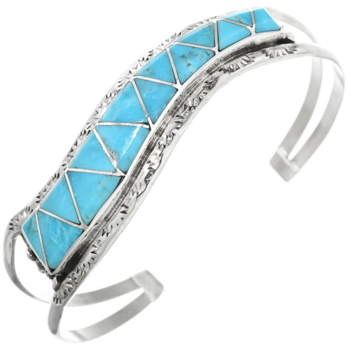 Zuni Turquoise Ladies Cuff Bracelet 32173