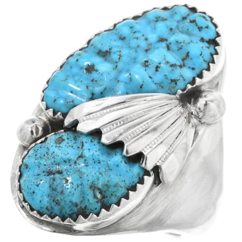 Zuni Turquoise Mens Ring 32188
