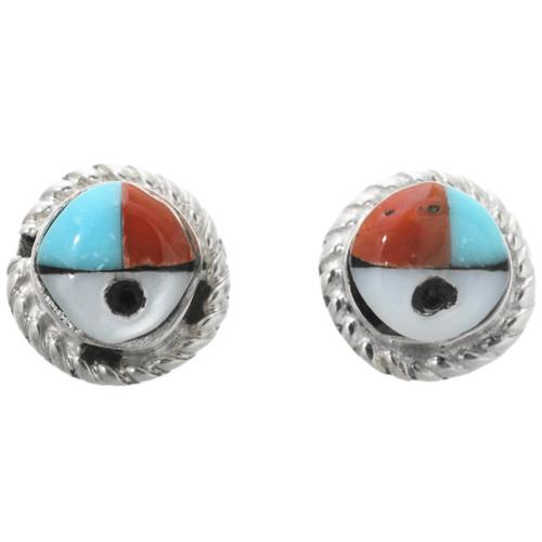 Turquoise Zuni Stud Earrings 32192