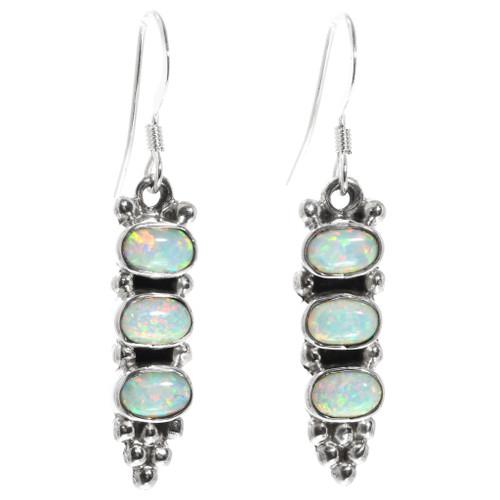 Opal Sterling Silver Earrings 32199