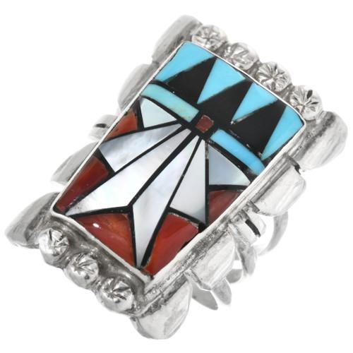 Zuni Inlay Turquoise Ring 32201