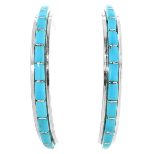 Turquoise Hoop Earrings 32204