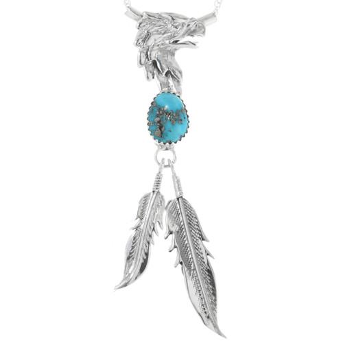 Turquoise Silver Eagle Pendant 32210
