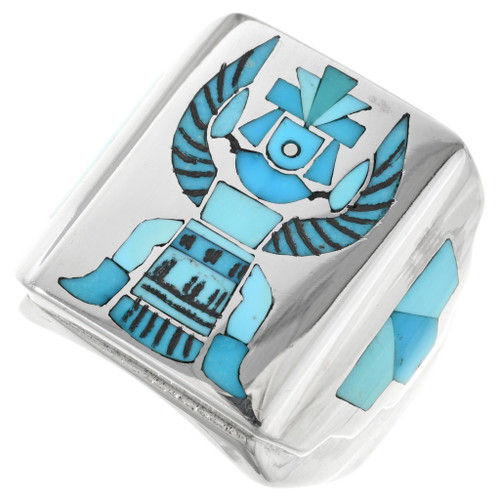 Turquoise Knifewing Kachina Ring 32223