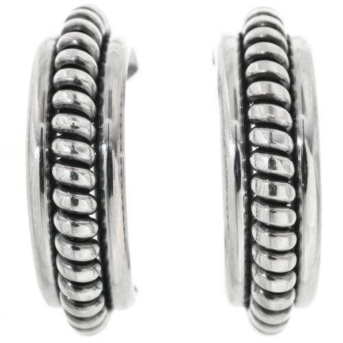 Sterling Silver Hoop Earrings 32246