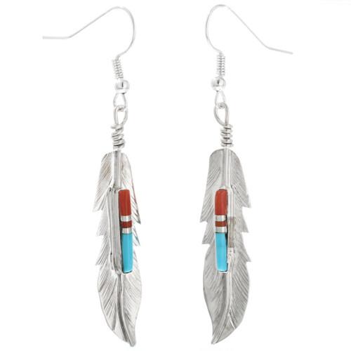 Sterling Silver Feather Earrings 32247