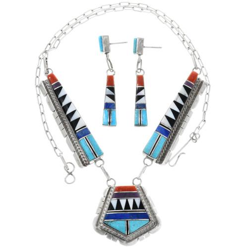 Zuni Turquoise Necklace Set 32252