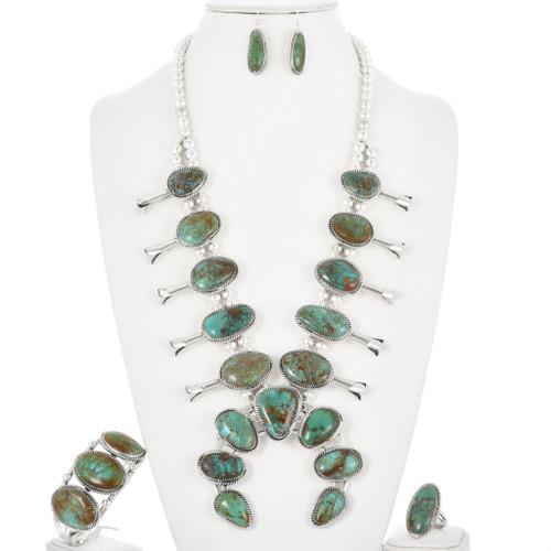 Turquoise Squash Blossom Necklace 32266