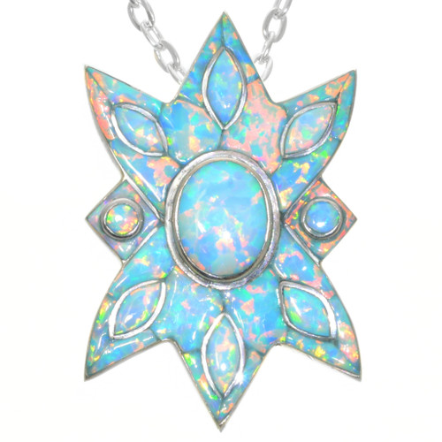 Vintage Opal Star Pendant 32330