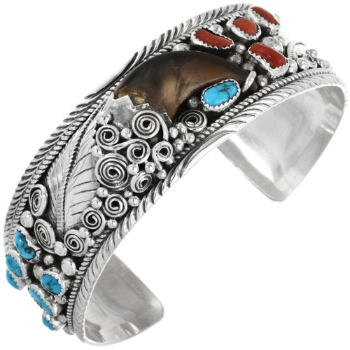 Vintage Native American Bear Claw Bracelet 32366