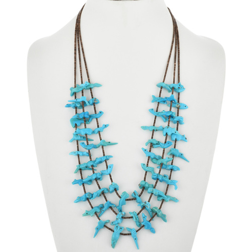 Vintage Turquoise Fetish Necklace 32368