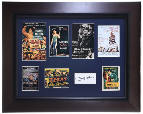 Vintage Framed Glenn Ford Collectibles With Autograph 32401