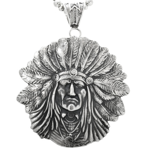 Large Indian Chief Navajo Pendant 32428