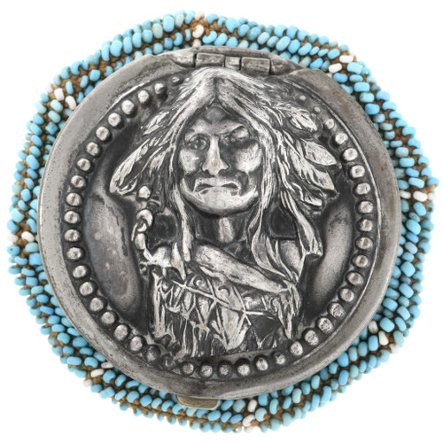 Antique Indian Beaded Coin Purse 1903 32472