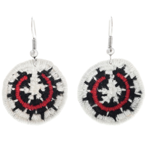 Navajo Wedding Basket Dangle Earrings 32474