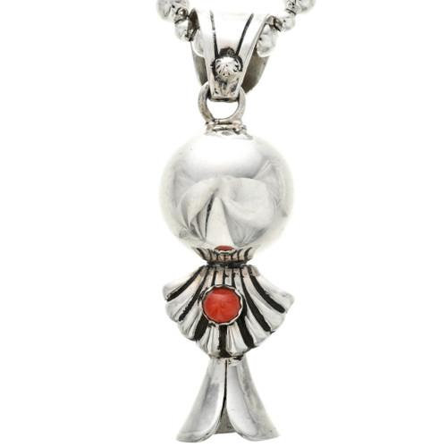 Silver Squash Blossom Shell Pendant 32478