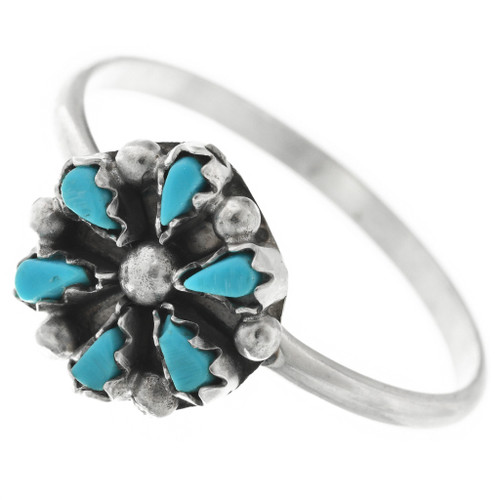 Sleeping Beauty Turquoise Flower Ring 32488