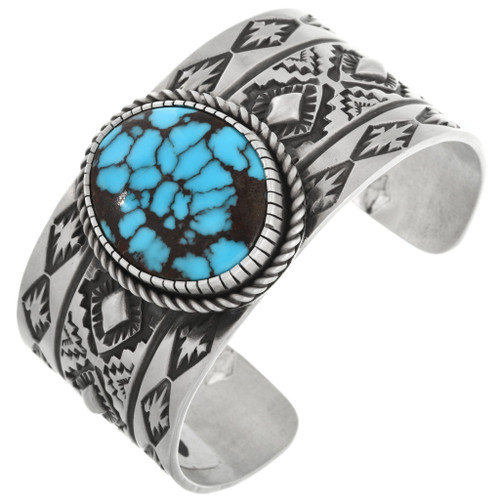 Spiderweb Turquoise Sterling Bracelet 32489