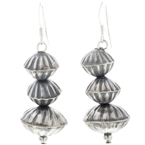 Fluted Desert Pearl Silver Earrings 32498