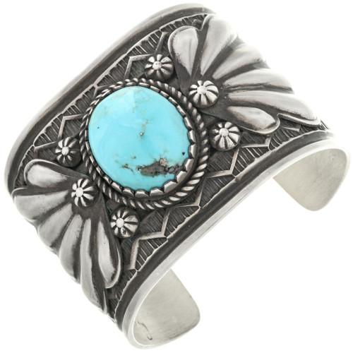 Kingman Turquoise Silver Bracelet 32500