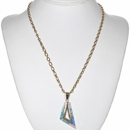 Vintage Gold Inlaid Opal Pendant 32508