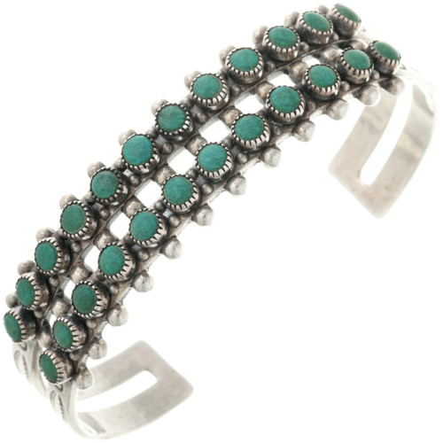 Old Pawn Turquoise Silver Bracelet 32518
