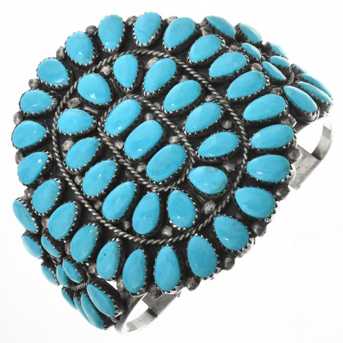 Old Pawn Turquoise Cluster Bracelet 32523