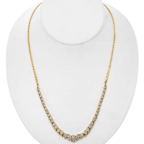 Vintage Diamond Gold Necklace 32529