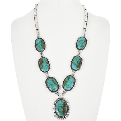 Vintage Native American Turquoise Necklace 32544